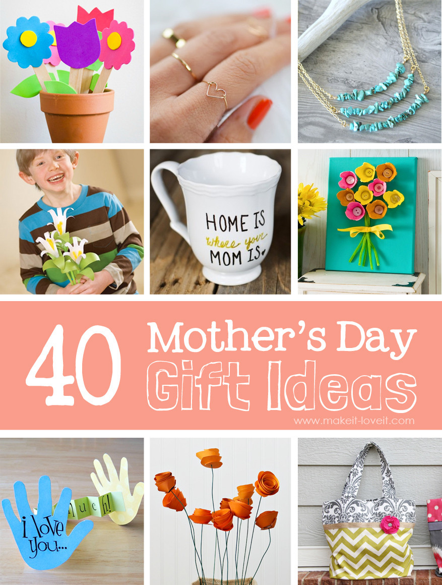 Mother Day Homemade Gift Ideas  40 Homemade Mother s Day Gift Ideas