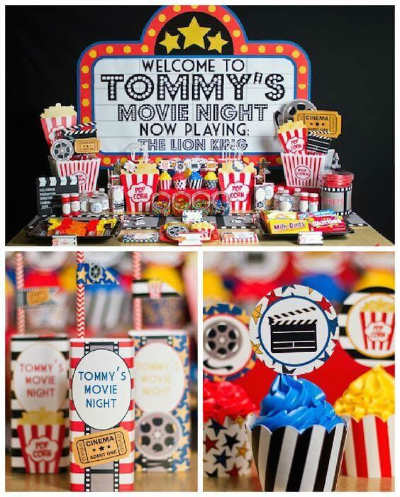 Movie Night Birthday Party  21 Fun June Birthday Party Ideas for Boys and Girls too