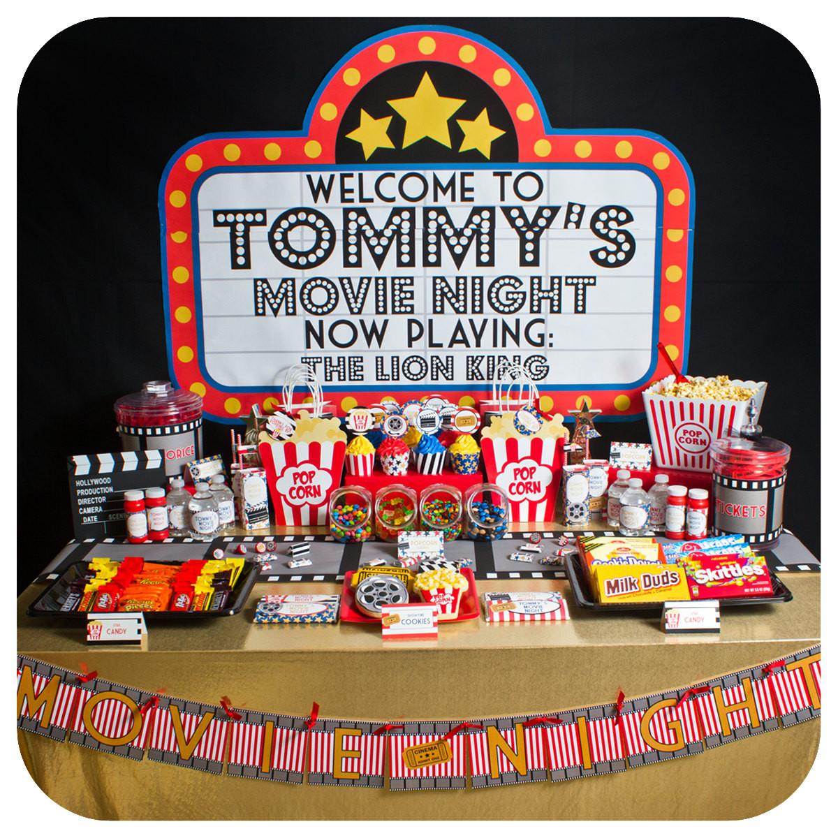 Movie Night Birthday Party  Movie Night Movie Night Party Movie Night Birthday Party