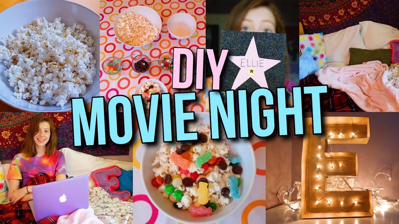 Movie Night Birthday Party  DIY Movie Night Party Treats Decor more