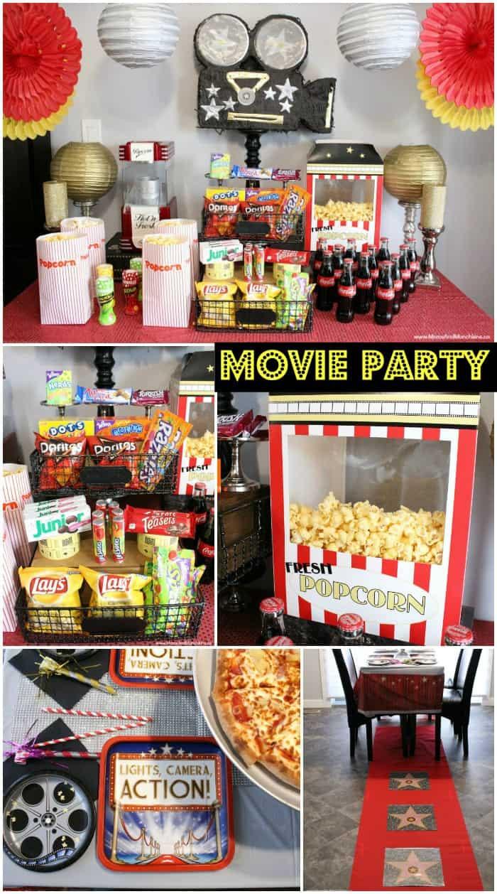 Movie Night Birthday Party  Movie Night Party Ideas Moms & Munchkins
