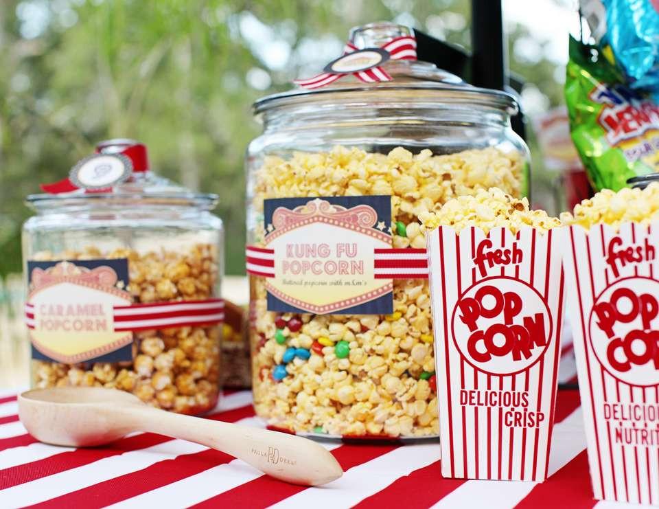 """Movie Night Birthday Party  Movie Night Birthday """"Outdoor Movie Night Birthday"""