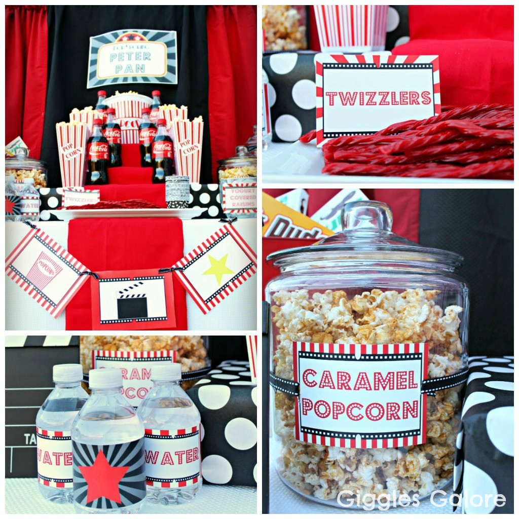 Movie Night Birthday Party  Outdoor Movie Night Party & Giveaway