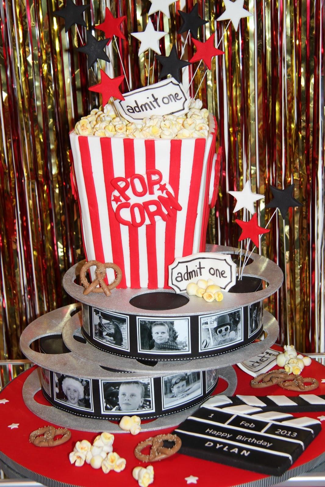 Movie Night Birthday Party  Leonie s Cakes and Parties MOVIE NIGHT PARTY