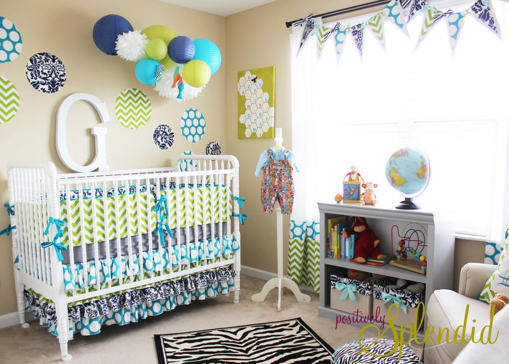Newborn Baby Boy Room Decor  Baby Boy Nursery Tour Positively Splendid Crafts