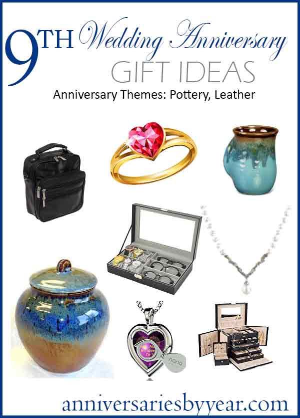 Ninth Anniversary Gift Ideas  9th Anniversary Ninth Wedding Anniversary Gift Ideas