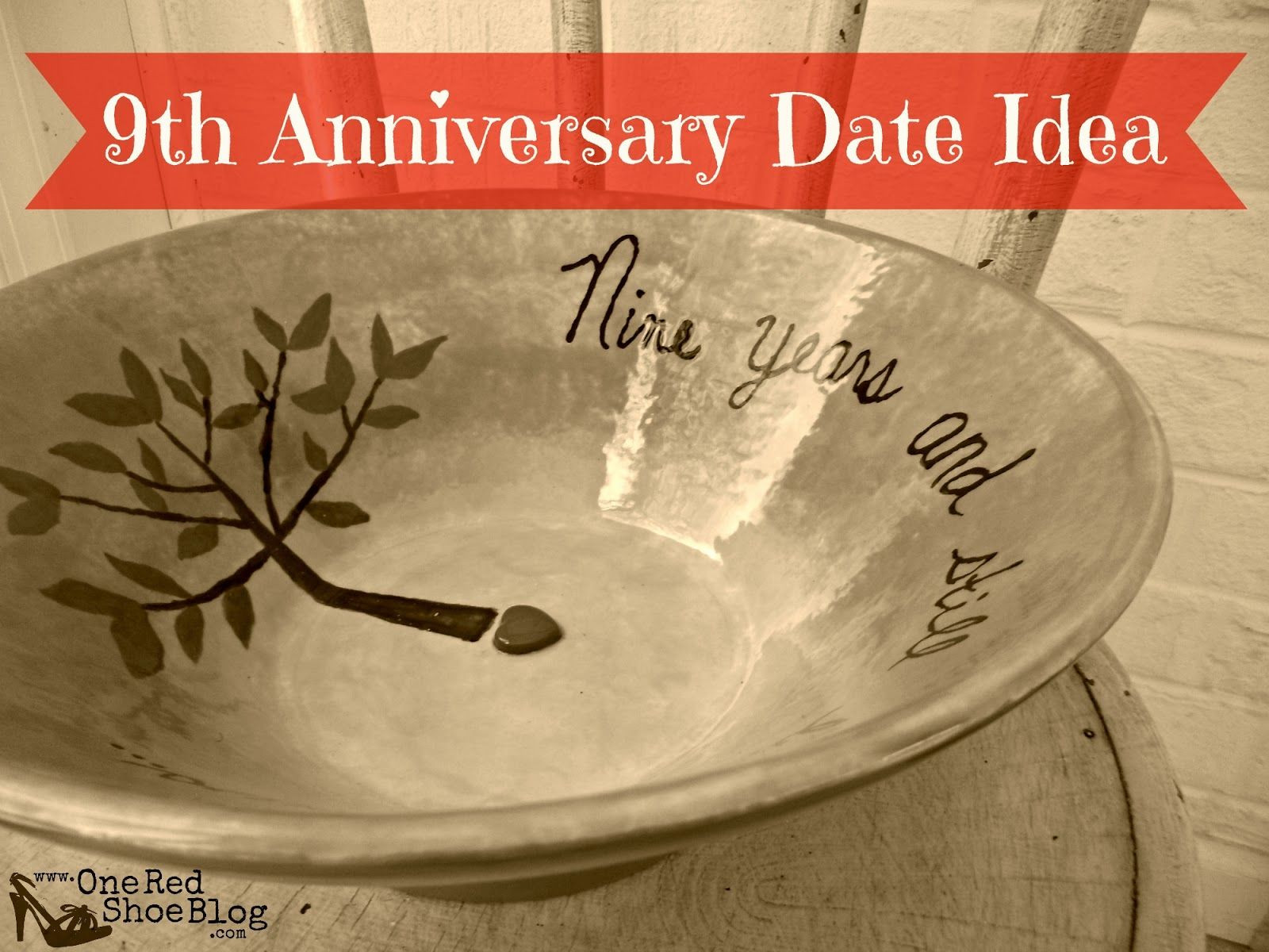 Ninth Anniversary Gift Ideas  9th anniversary pottery idea for anniversary date night