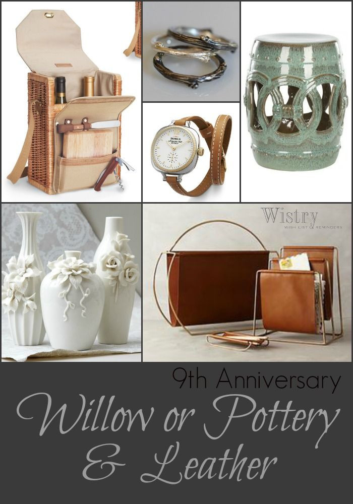 Ninth Anniversary Gift Ideas  9th Anniversary Gift Ideas Traditional Willow & Pottery