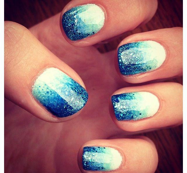 Ombre Nails With Glitter  Ombre Nails Pink Glitter