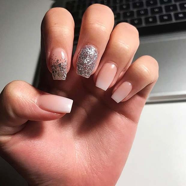 Ombre Nails With Glitter  23 Gorgeous Glitter Nail Ideas for the Holidays