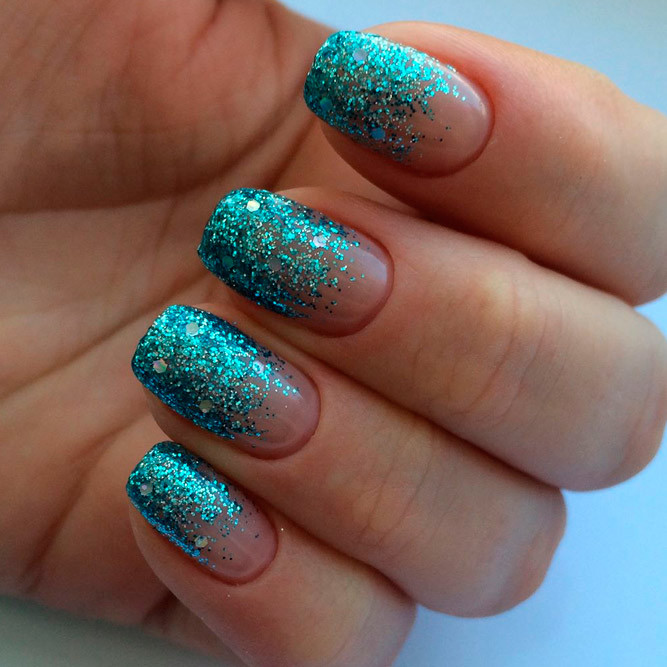 Ombre Nails With Glitter  Amazing Glitter Ombre Nails Ideas