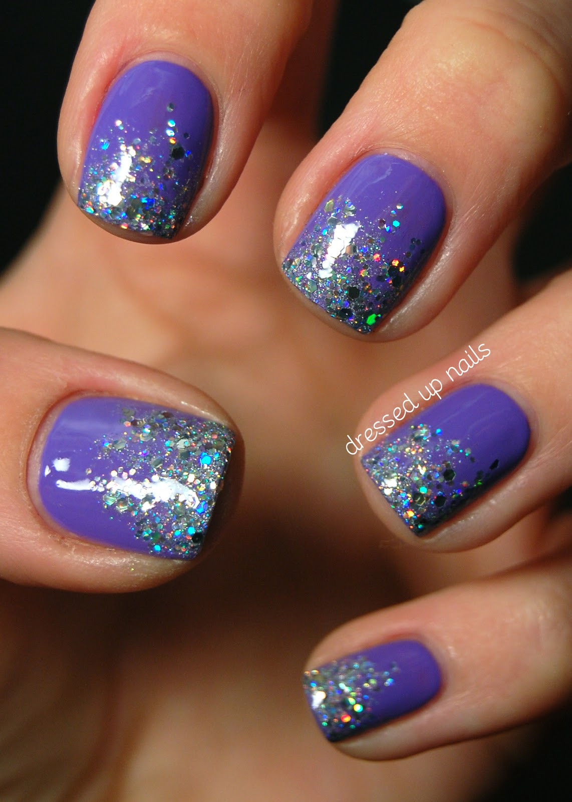 Ombre Nails With Glitter  Be Fun and Fabulous with this Top 50 Glitter Ombre Nails