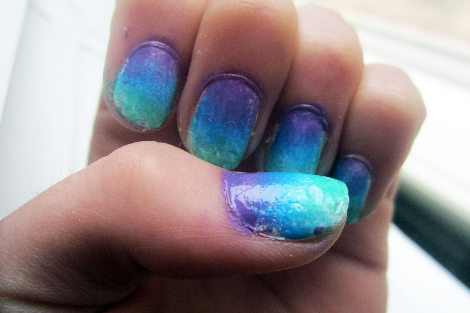 Ombre Nails With Glitter  MISS VELVET GLITTER Ombre Nails