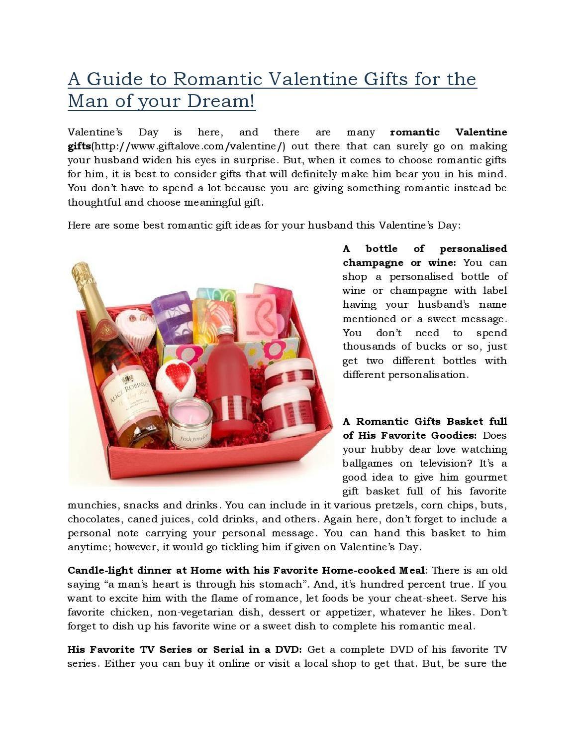 Online Valentine Gift Ideas  Romantic Valentine Gifts Ideas