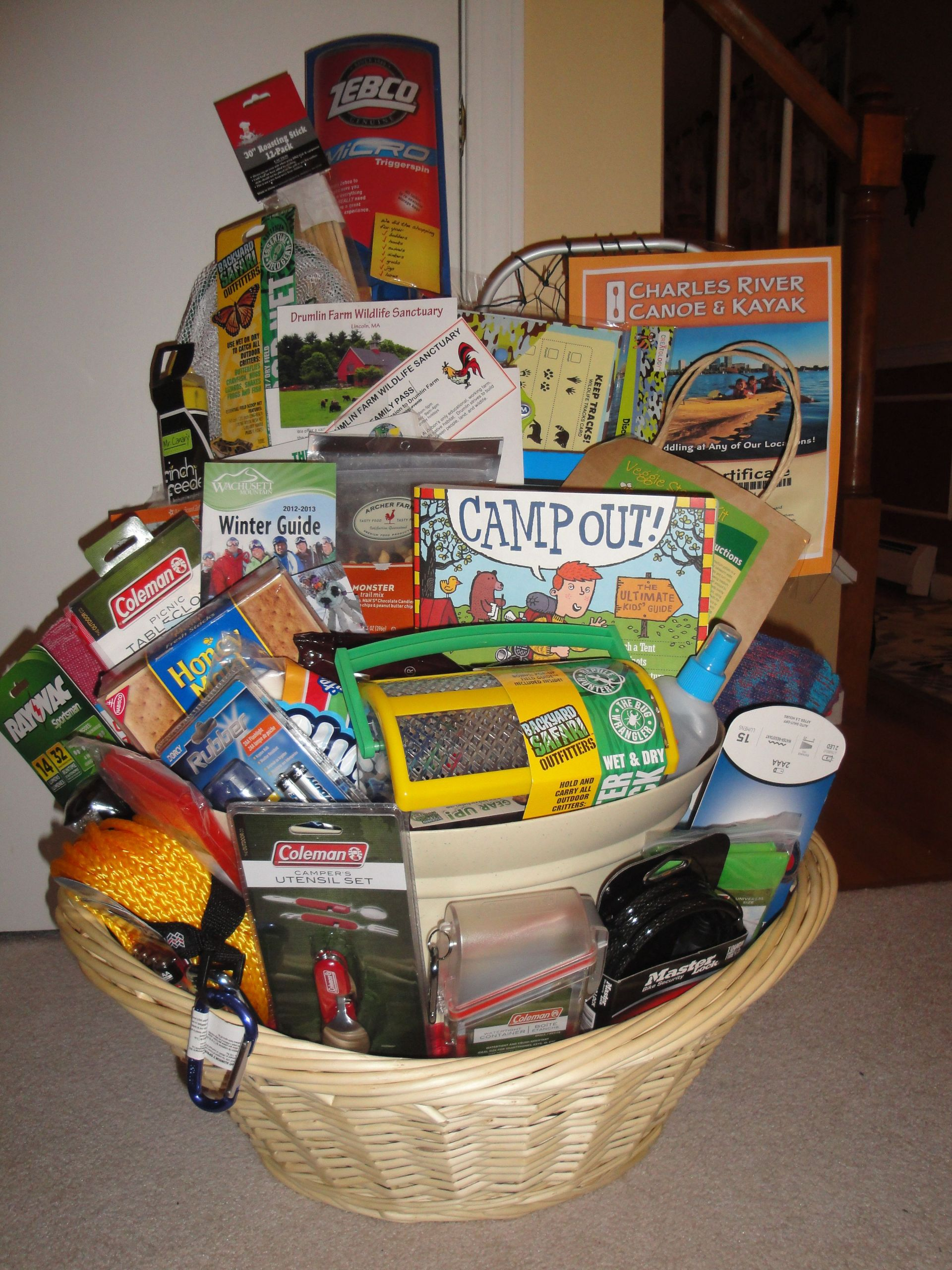 """Outdoor Gift Basket Ideas  The """"Great Outdoors"""" Basket 2013"""