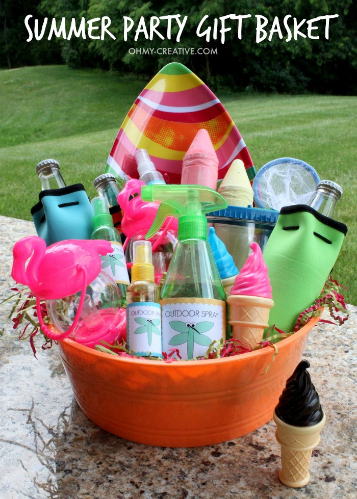 Outdoor Gift Basket Ideas  Summer Party Gift Basket Oh My Creative