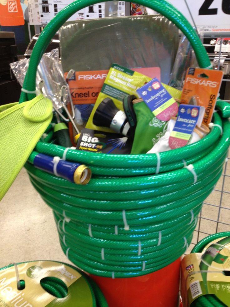 Outdoor Gift Basket Ideas  basket filled with gardening goo s