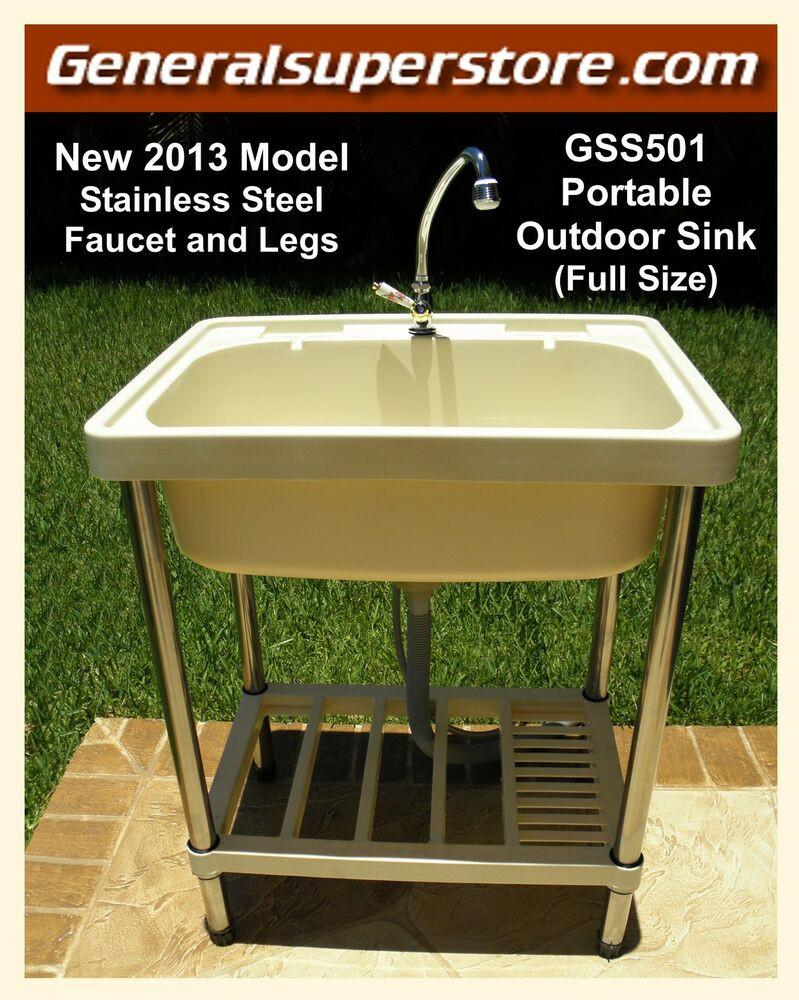 Outdoor Kitchen Sinks  GSS501 Portable Outdoor Sink Garden Camp Camping RV