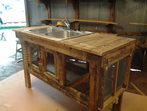 Outdoor Kitchen Sinks  Items similar to Rustic outdoor sink on Etsy