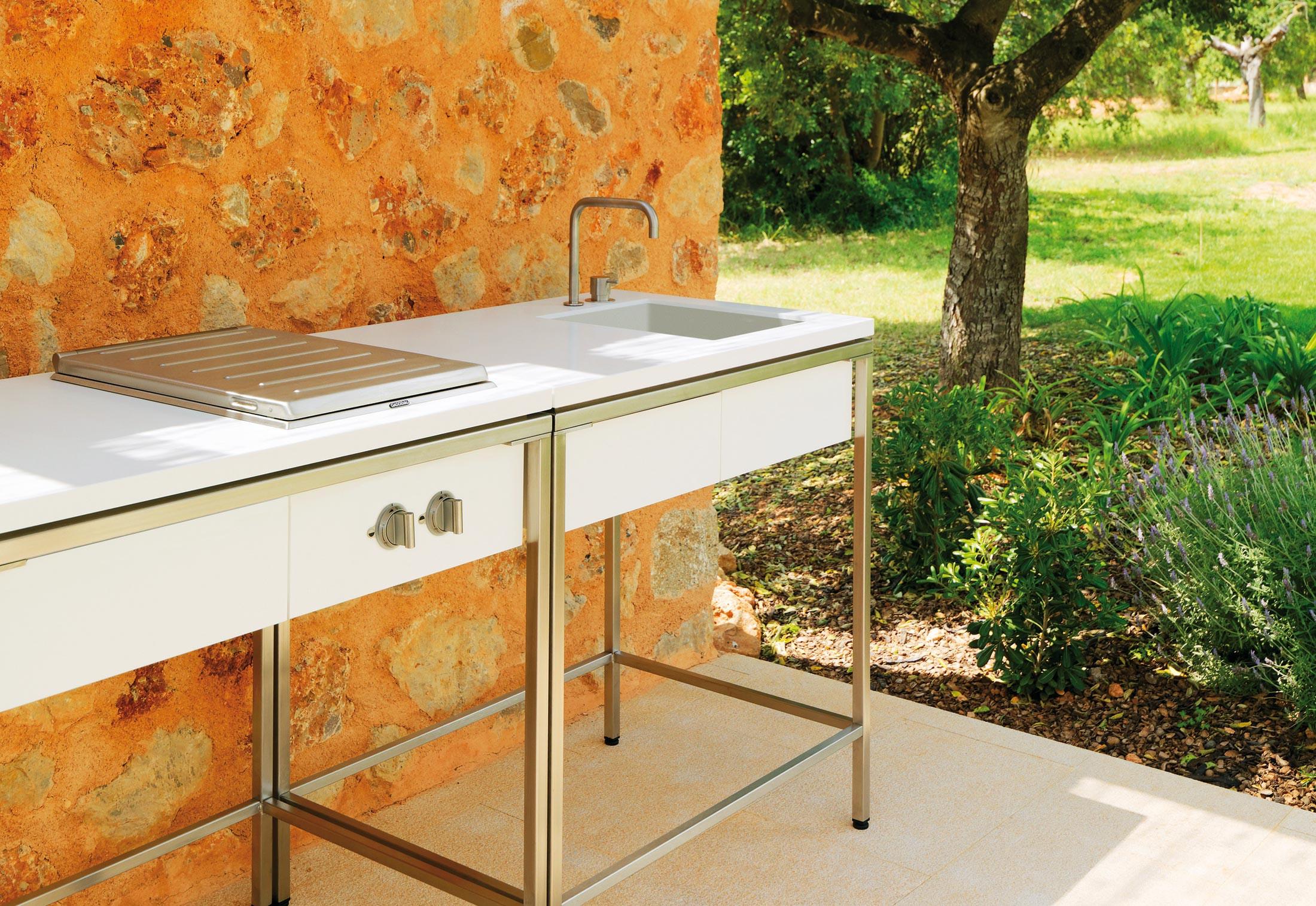 Outdoor Kitchen Sinks  Outdoor Kitchen sink modul by VITEO