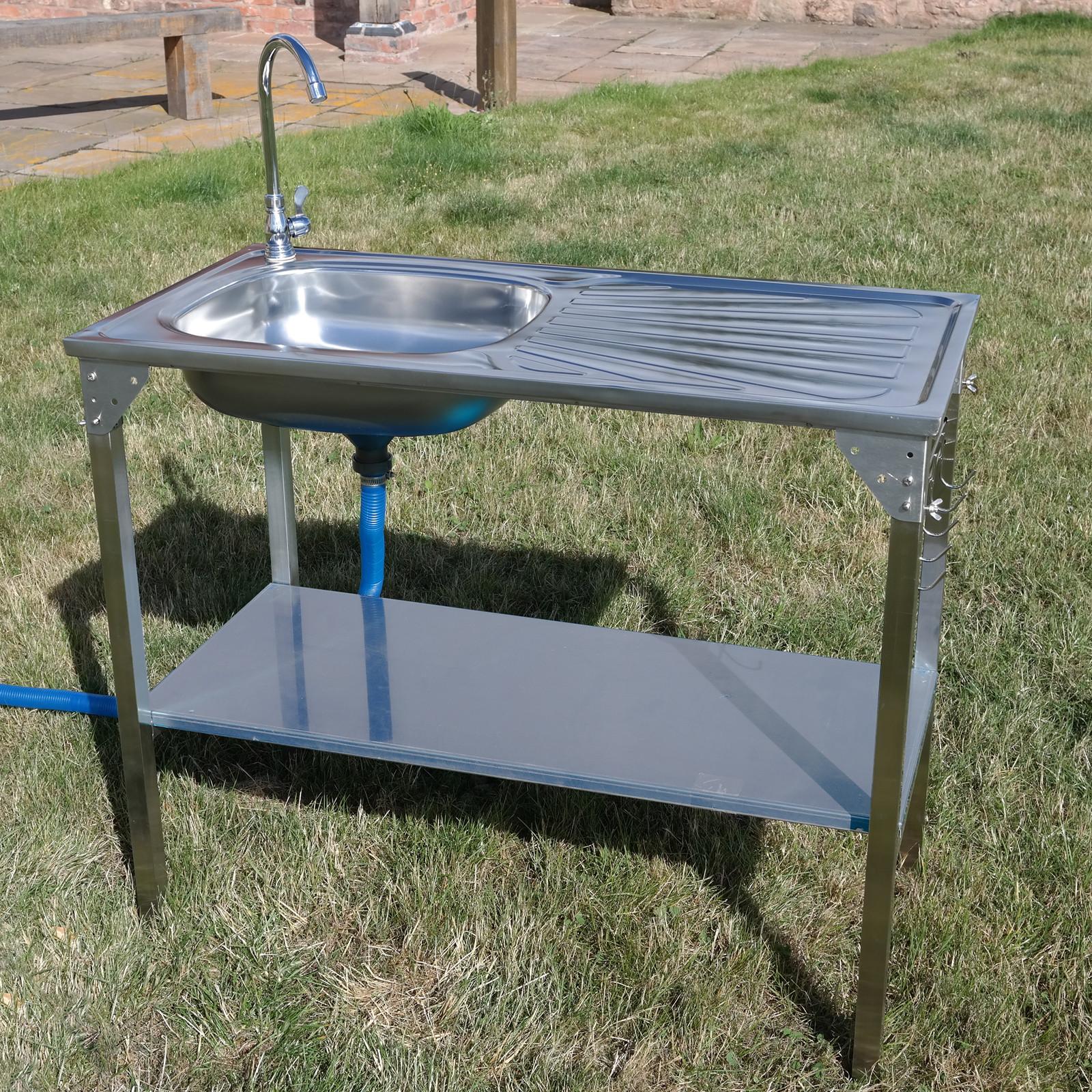 Outdoor Kitchen Sinks  CAMPING SINK OUTDOOR KITCHEN STAINLESS STEEL DRAINING