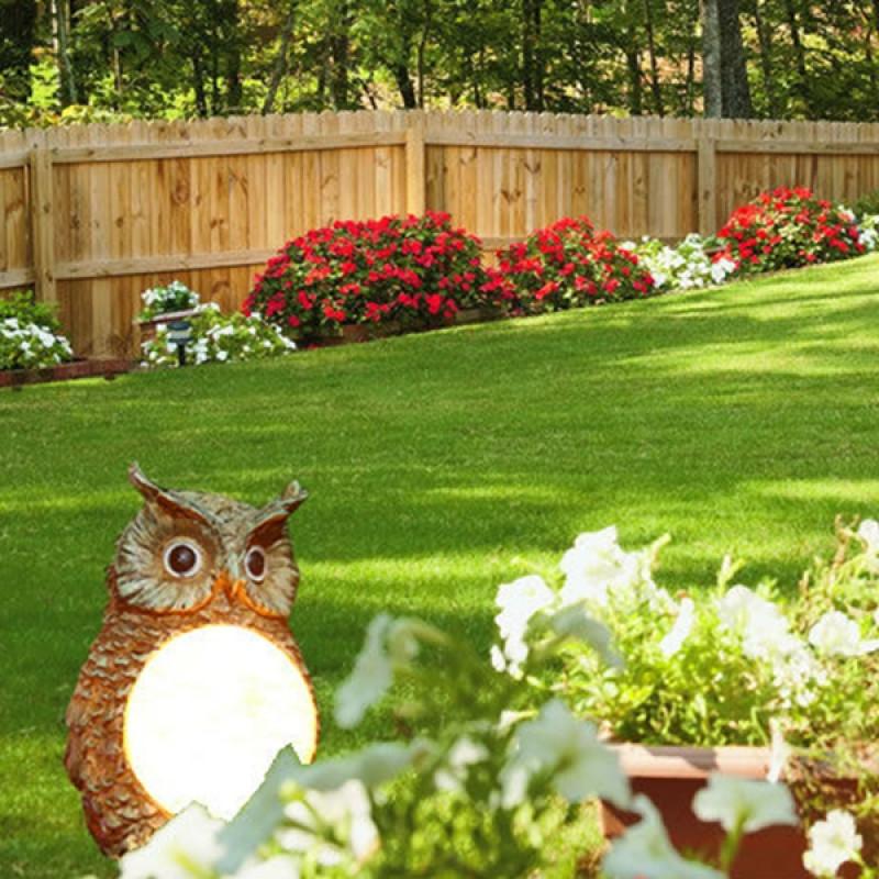 Outdoor Landscape Decor  Buy Solar Powered Owl LED Light Outdoor Garden Decor