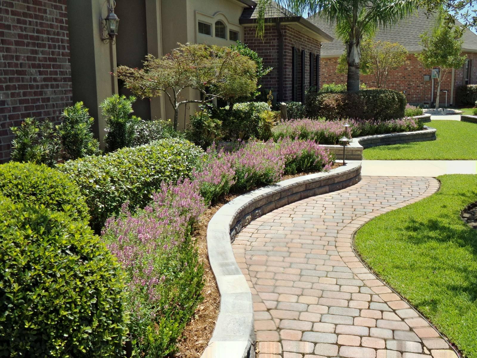 Outdoor Landscape Pavers  Paver Hardscape Landscape Planting
