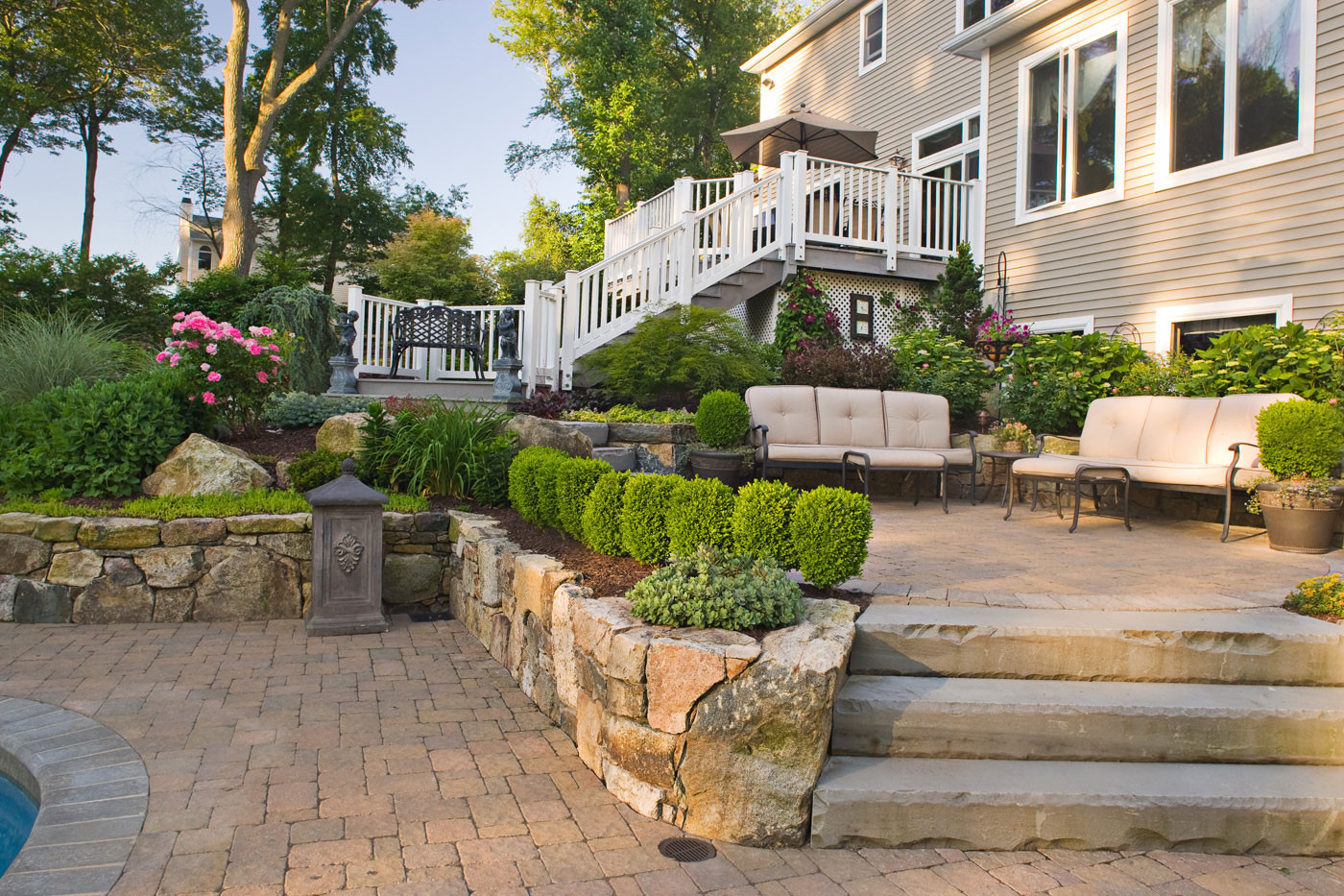 Outdoor Landscape Pavers  Paver Patio Ideas for Enchanting Backyard Amaza Design