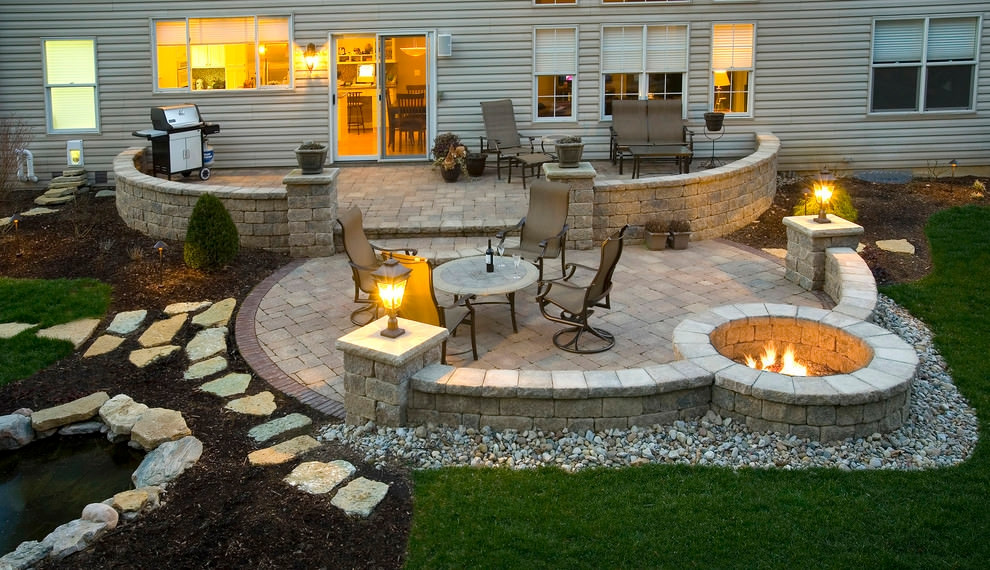 Outdoor Landscape Pavers  24 Paver Patio Designs Garden Designs