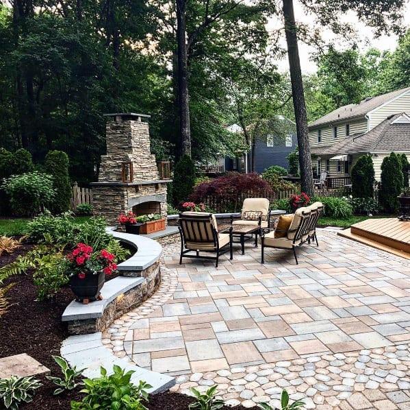 Outdoor Landscape Pavers  Top 60 Best Paver Patio Ideas Backyard Dreamscape Designs