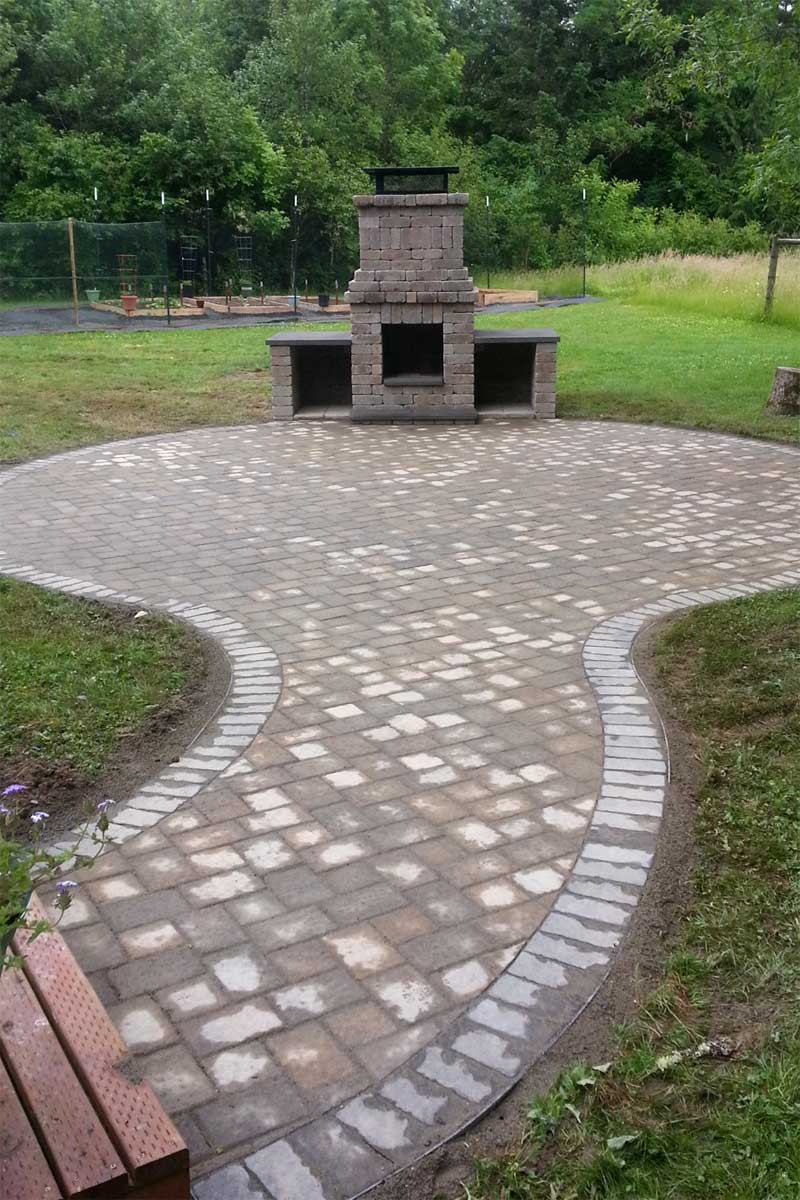 Outdoor Landscape Pavers  Chehalis Outdoor Fire Pit Matching Paver Patio AJB