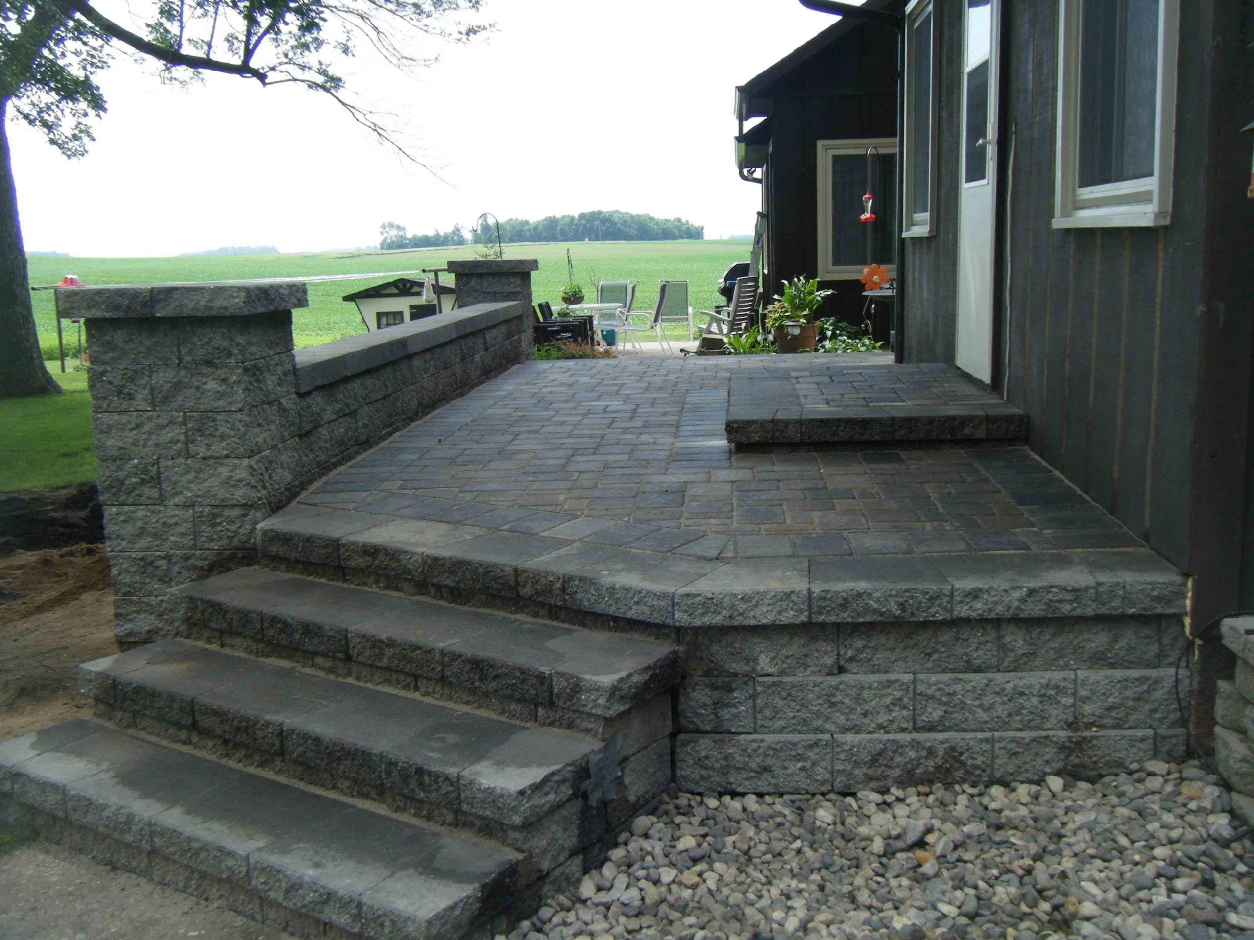 Outdoor Landscape Pavers  paver patio steps – Leading Edge Landscapes