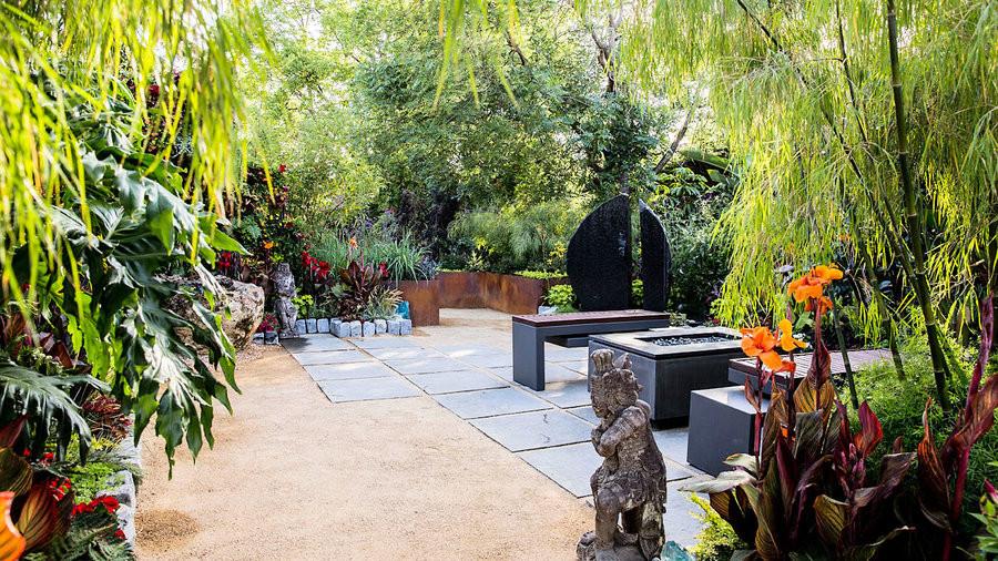 Outdoor Landscape Tropical  8 Ideas for a Tropical Themed Garden Sunset Magazine