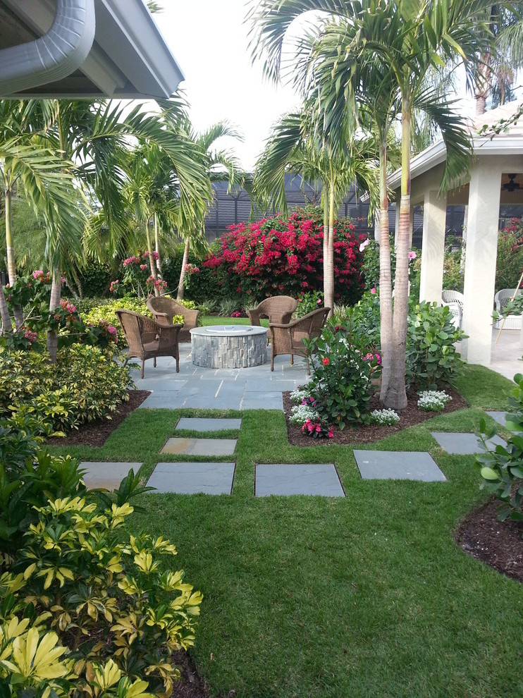Outdoor Landscape Tropical  Tropical Backyard Ideas For Beautiful View 507