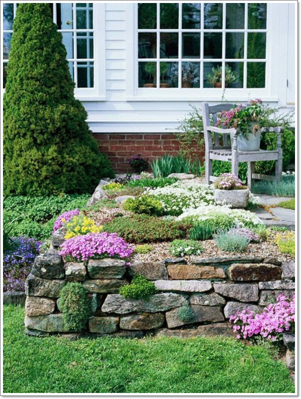 Outdoor Landscaping Ideas  30 Beautiful Rock Garden Design Ideas