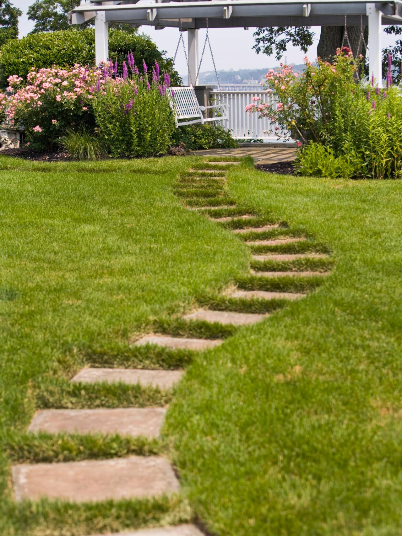Outdoor Landscaping Ideas  Slope Yard Landscaping Ideas Backyard Landscape and