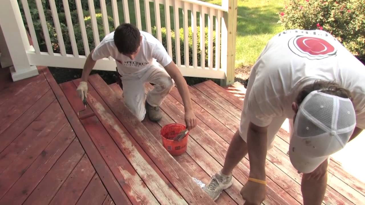 Paint My Deck  Is it better to stain or paint my wood deck