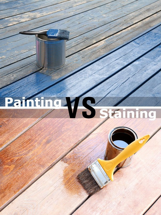 Paint Or Stain Deck  Painting vs Staining a Deck 7 Big Differences