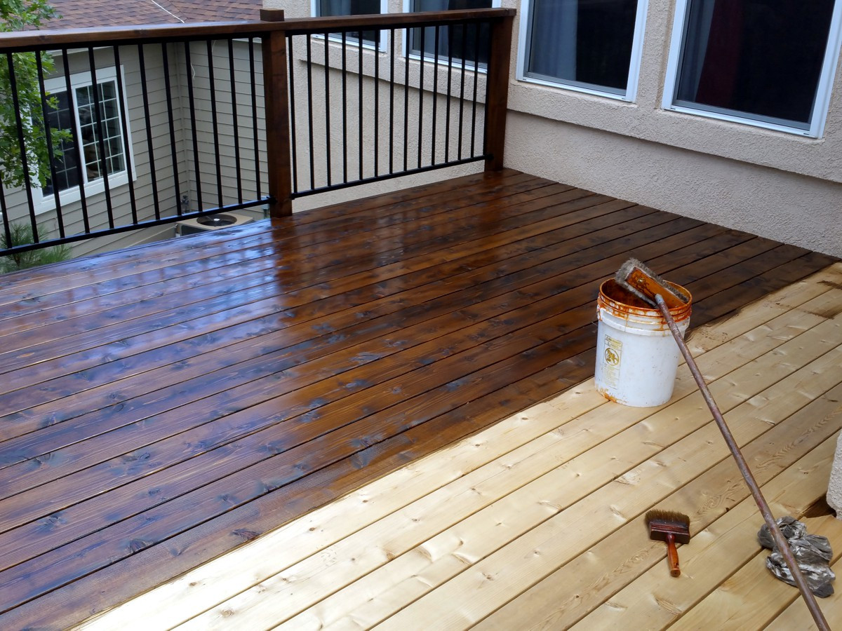 Paint Or Stain Deck  CHOOSING DECK COLORS – Oleary and Sons