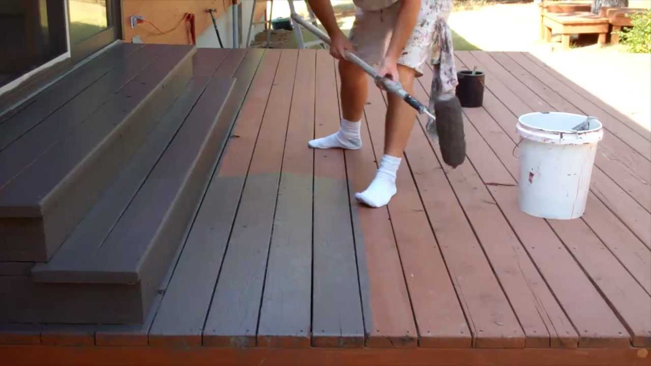 Paint Or Stain Deck  Exterior Painting Step 9 Staining the Deck