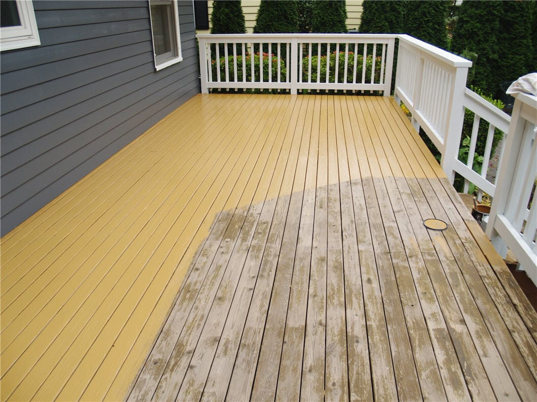 Paint Or Stain Deck  How to Stain a Deck Tutorial & Cost Guide