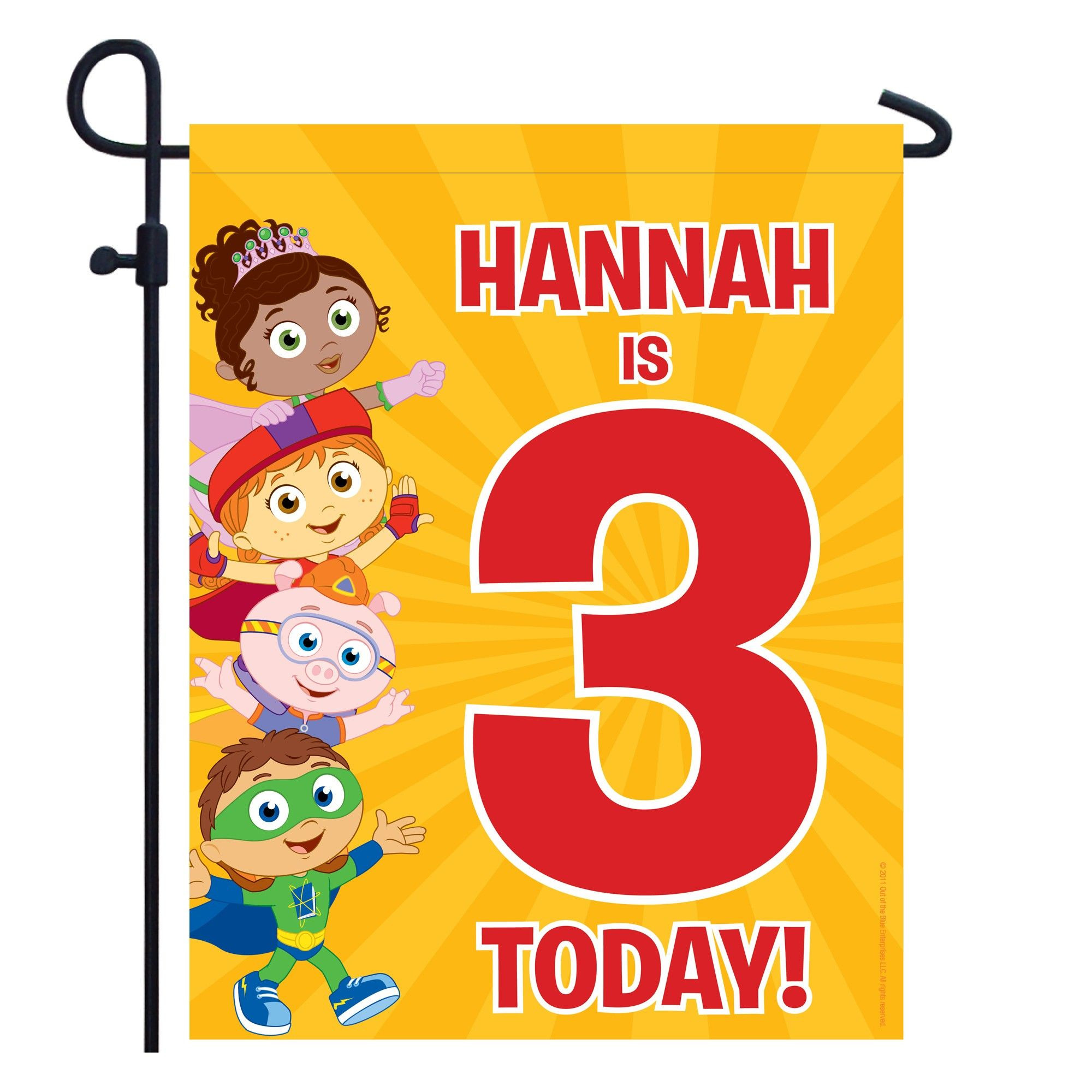 Pbs Kids Party  Super Why Birthday Yard Sign from PBS Kids Shop