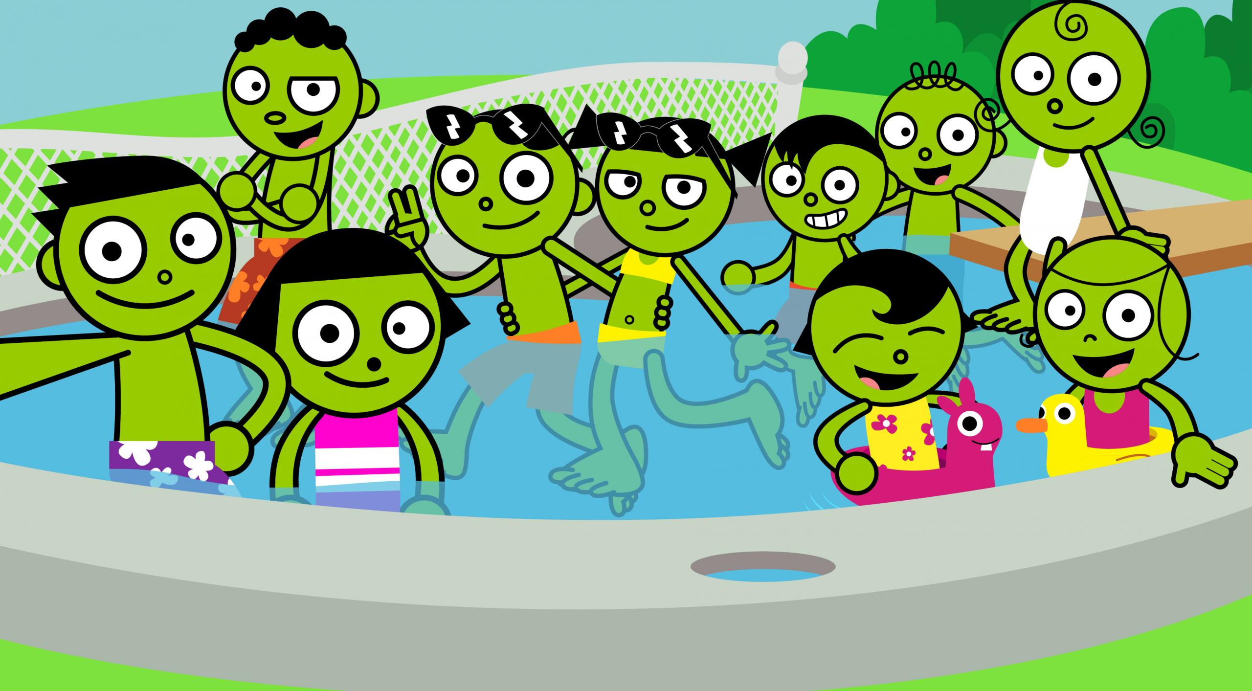 Pbs Kids Party  PBS Kids Selfie Pool Party 1999 by LuxoVeggieDude9302