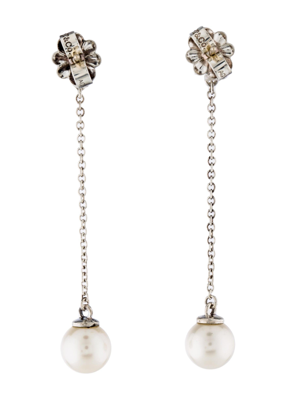 Pearl Drop Earrings  Tiffany & Co Pearl Drop Earrings Earrings TIF