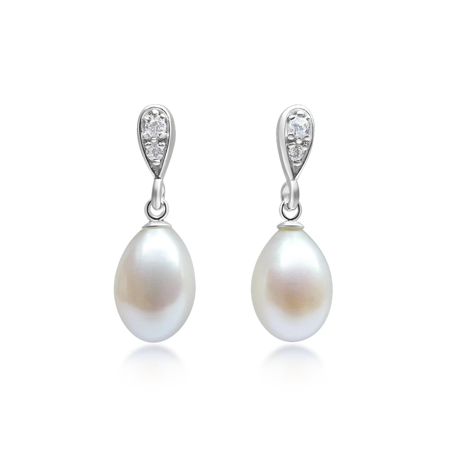 Pearl Drop Earrings  Infinity Pearl Drop Earrings MacAngus Designs