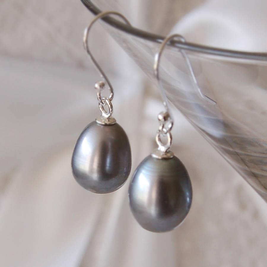 Pearl Drop Earrings  Pearl Drop Earrings By Highland Angel