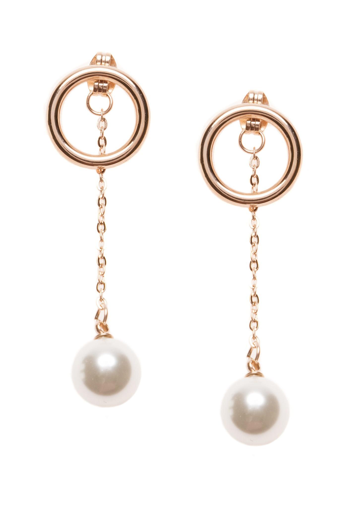 Pearl Drop Earrings  Faux Pearl Drop Earrings Happiness Boutique