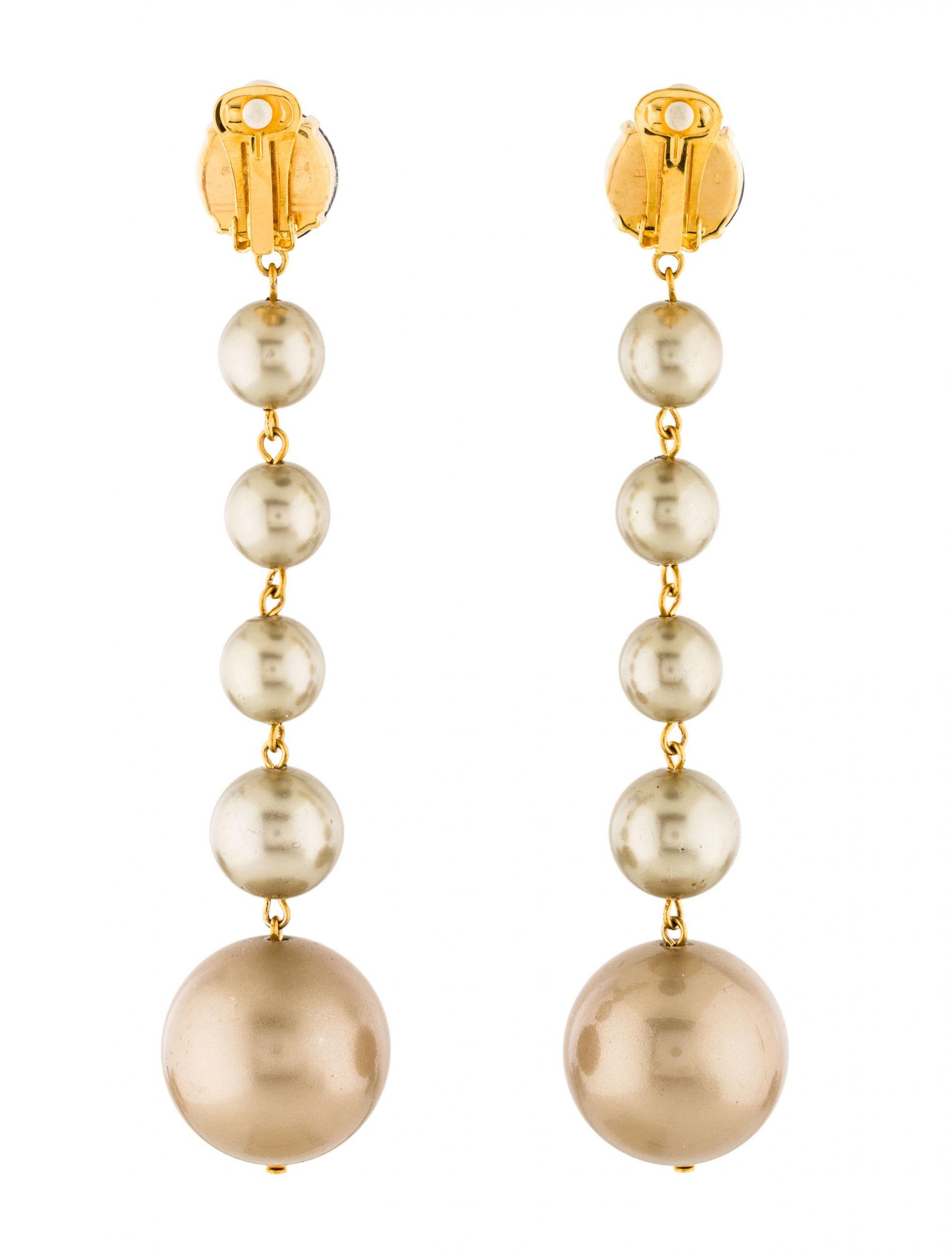 Pearl Drop Earrings  Marni Crystal & Faux Pearl Drop Earrings Earrings