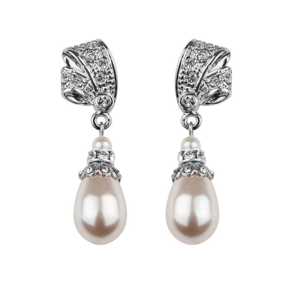 Pearl Drop Earrings  Antique Inspired Pearl Drop Earrings By Katherine Swaine