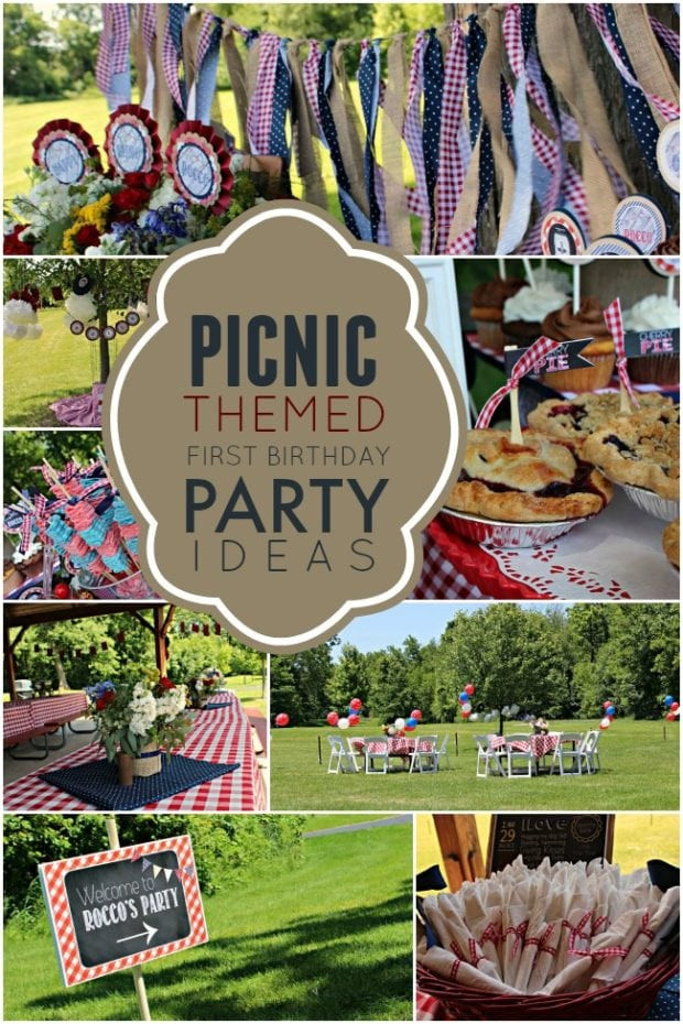 Picnic Birthday Party Ideas  A Picnic Themed 1st Birthday Party